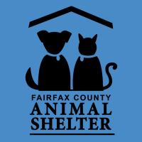 FCAS logo of the outline of a dog and a cat sitting together under a roof.