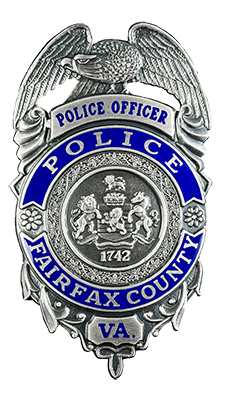Fairfax County Police badge.