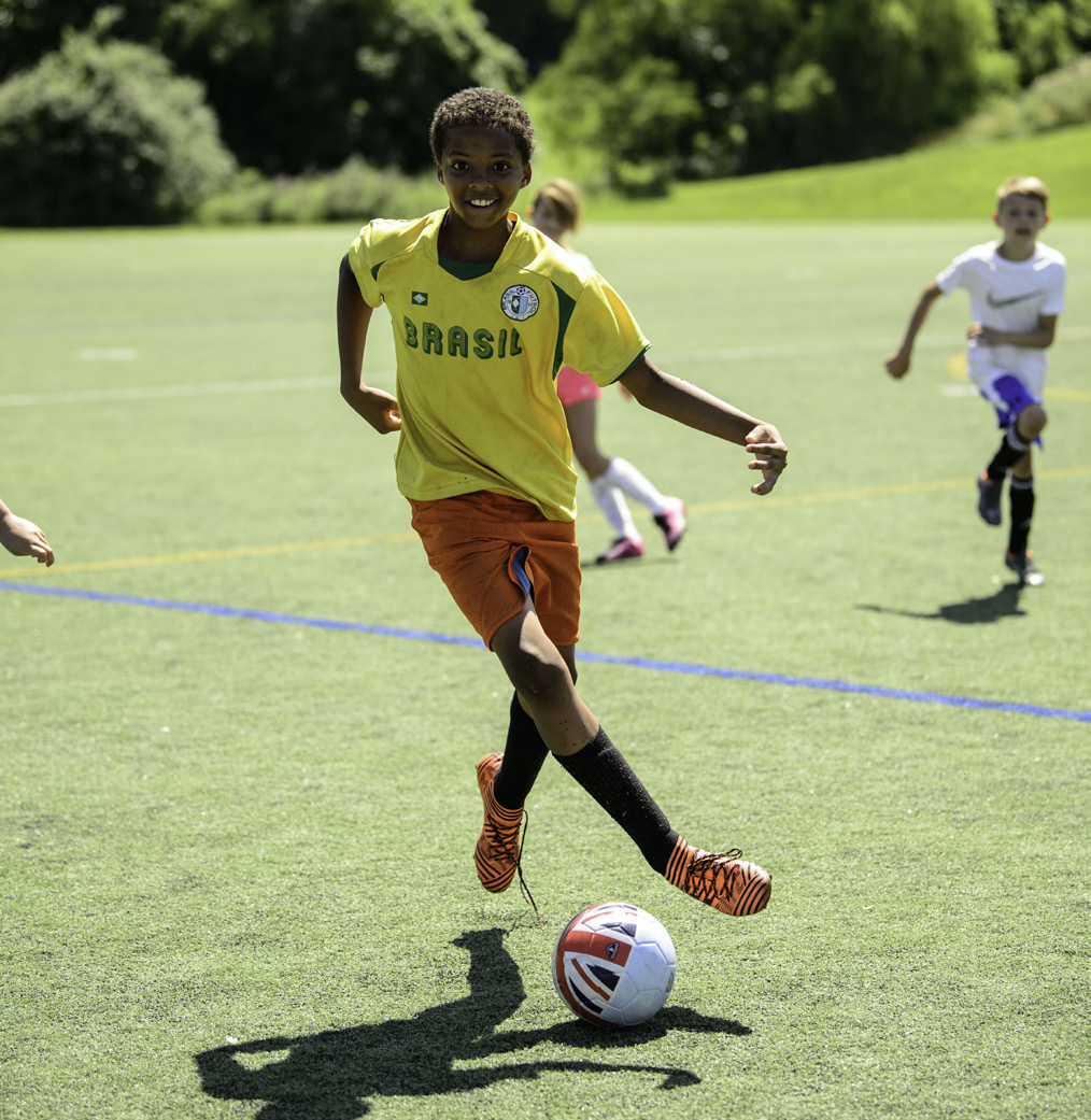 Soccer player at Fairfax County park.