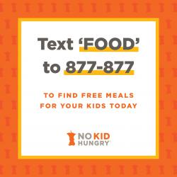 No Kid Hungry Text Line