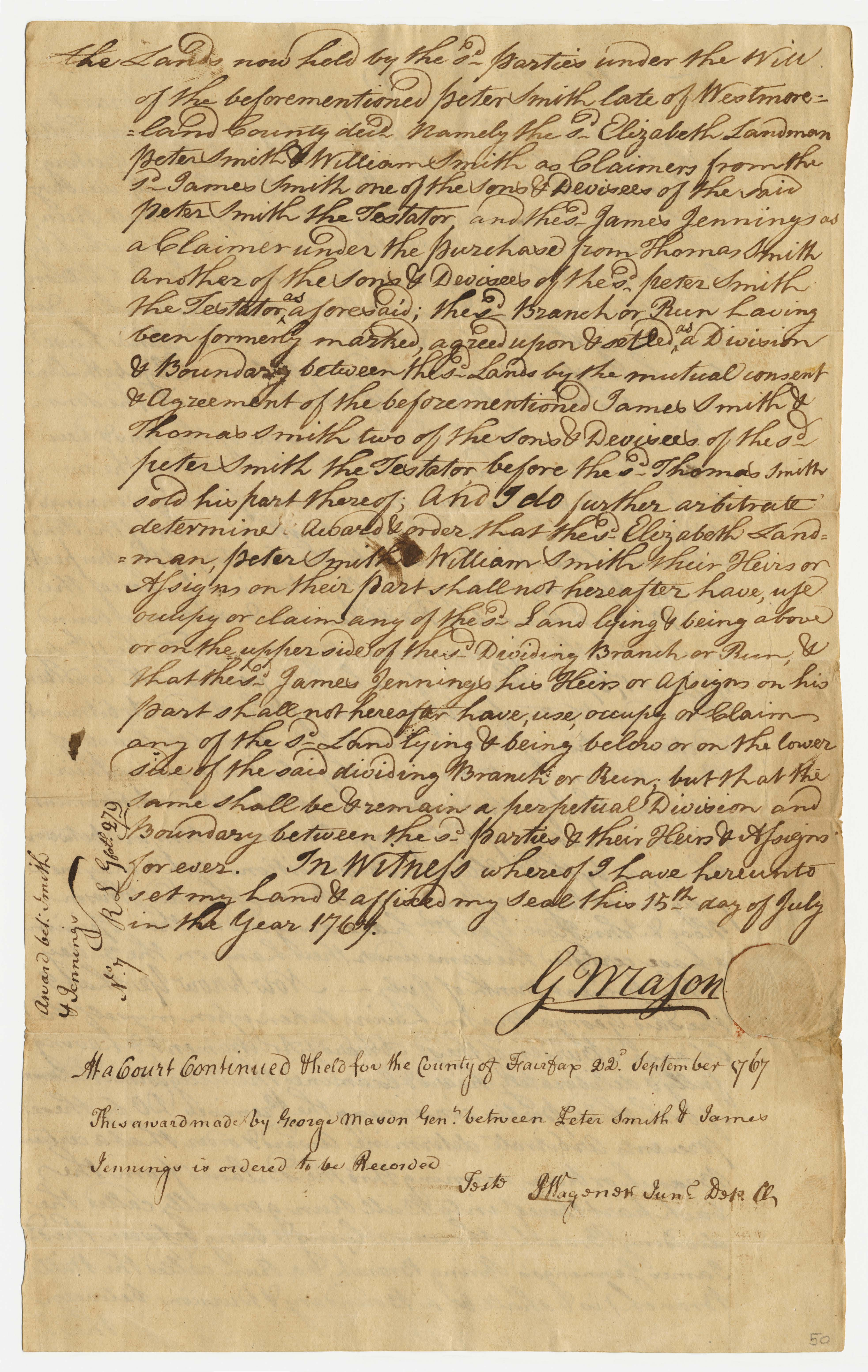 George Mason order, page 2.