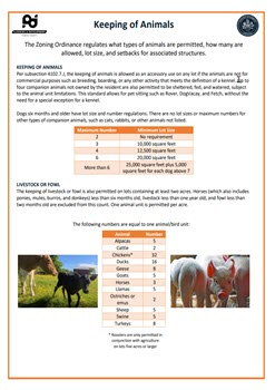 Keeping of Animals Flyer