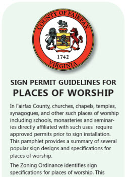 Signs, Places of Worship flyer