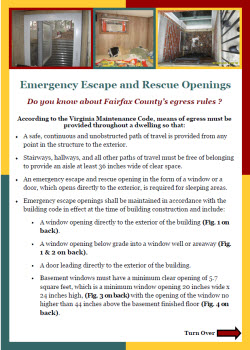 Emergency Escape and Rescue Openings Flyer