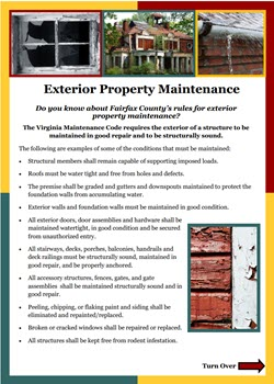 Exterior Maintenance Flyer