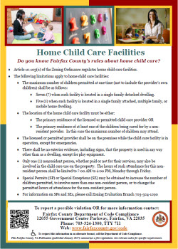 Home Child Care flyer