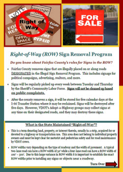 Right of Way flyer