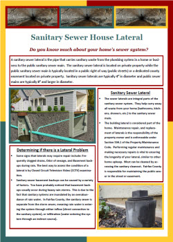 Sanitary Sewer House Lateral flyer