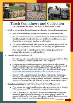 Trash Containers and Collection