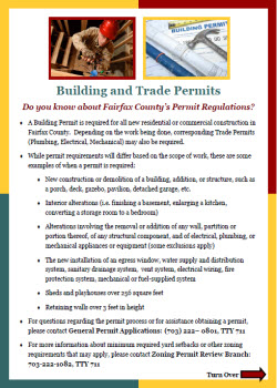 Unpermitted Construction/Building and Trade Permits flyer