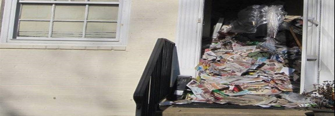 Papers falling out of front door