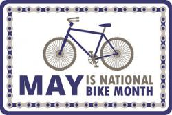 May is National Bike Month graphic