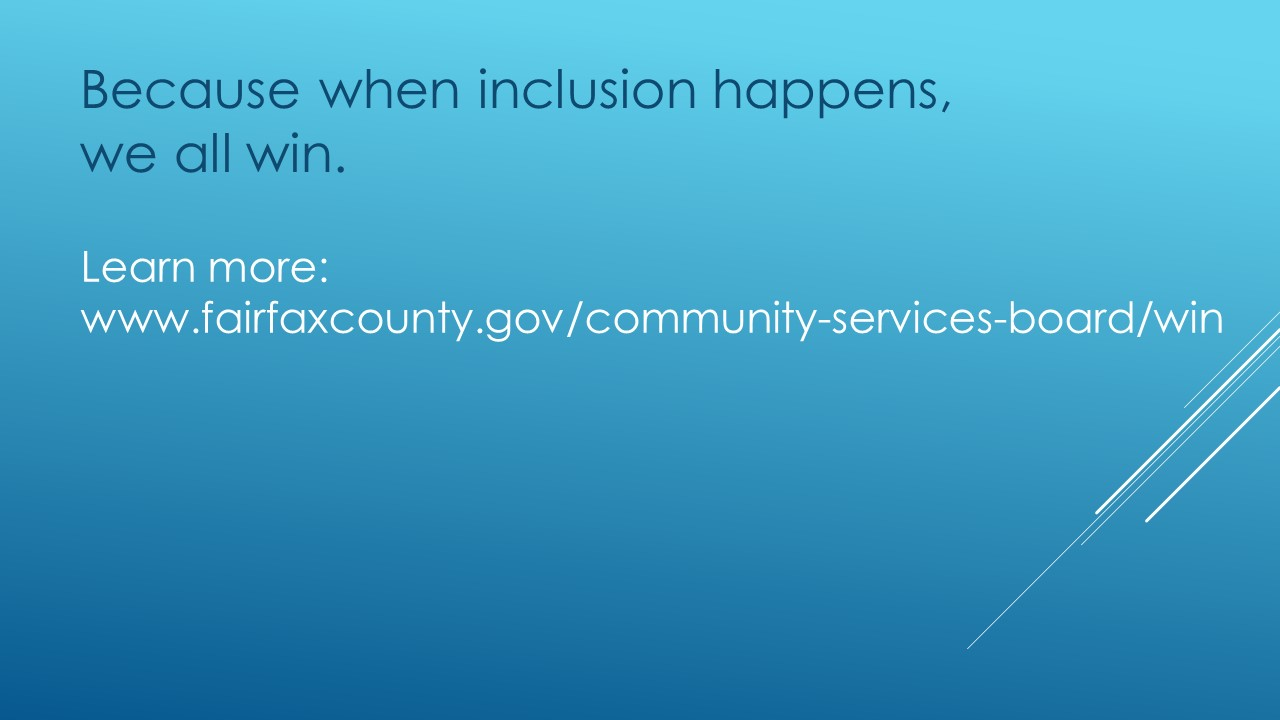 "Blue backround, text says ""Because when inclusion happens, we all win."""