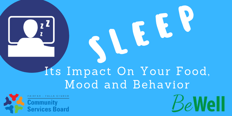 Icon of sleeping person, with CSB and BeWell logos