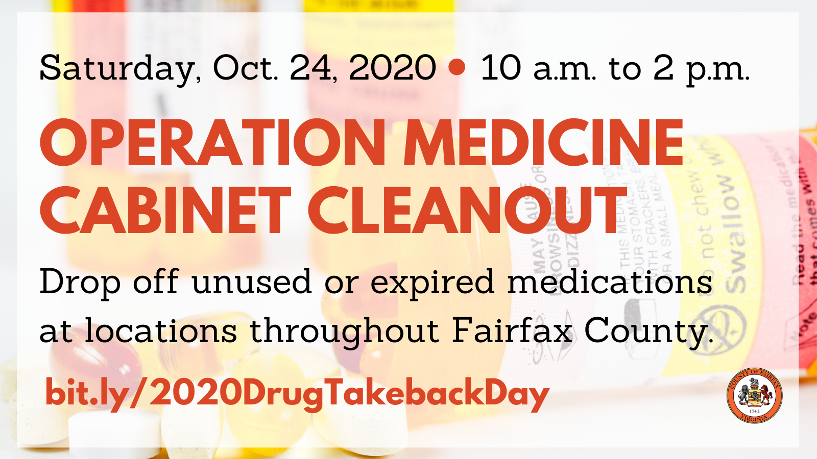 Operation Medicine Cabinet Cleanout graphic for Twitter