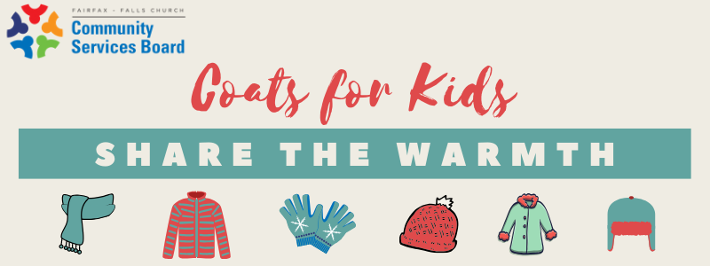 Coats for kids collection with hats, gloves, coats and scarf