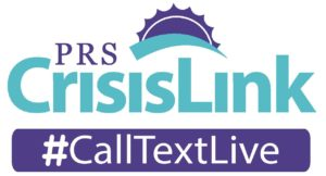 PRS CrisisLink logo with #CallTextLive