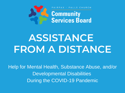 Assistance from a distance graphic with CSB logo