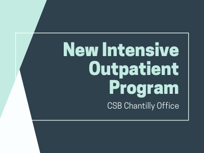 "Decorative with words ""New Intensive Outpatient Program at Chantilly"""