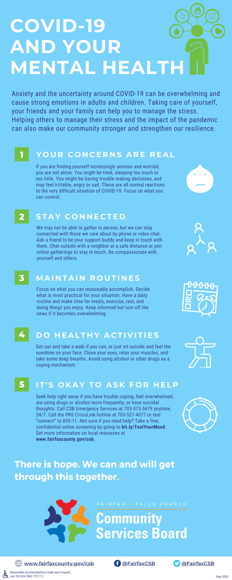 COVID-19 and your mental health infographic