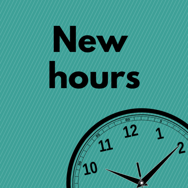Clock graphic for new hours