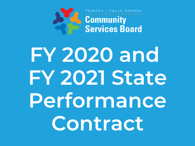 CSB logo with colorful background and FY 2020 and FY 2021 Performance Contract