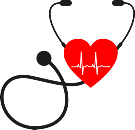 Illustration of stethoscope with a heart on it