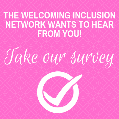 Pink box with text encouraging participation in WIN survey
