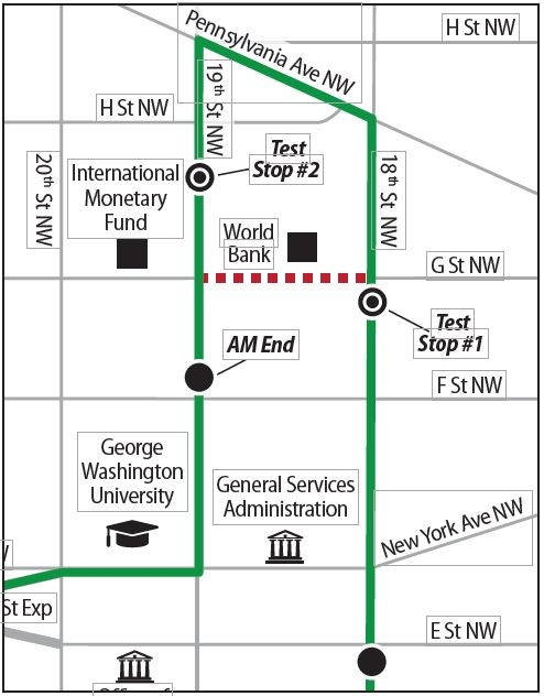 Route 699 new stops graphic