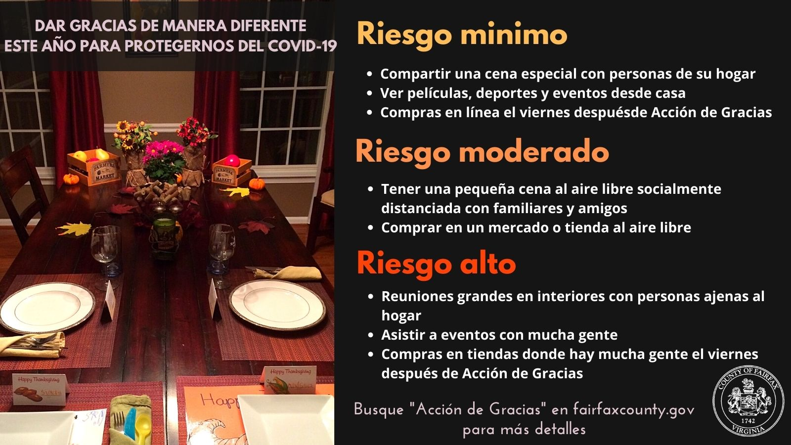 Thanksgiving Guidelines in Spanish