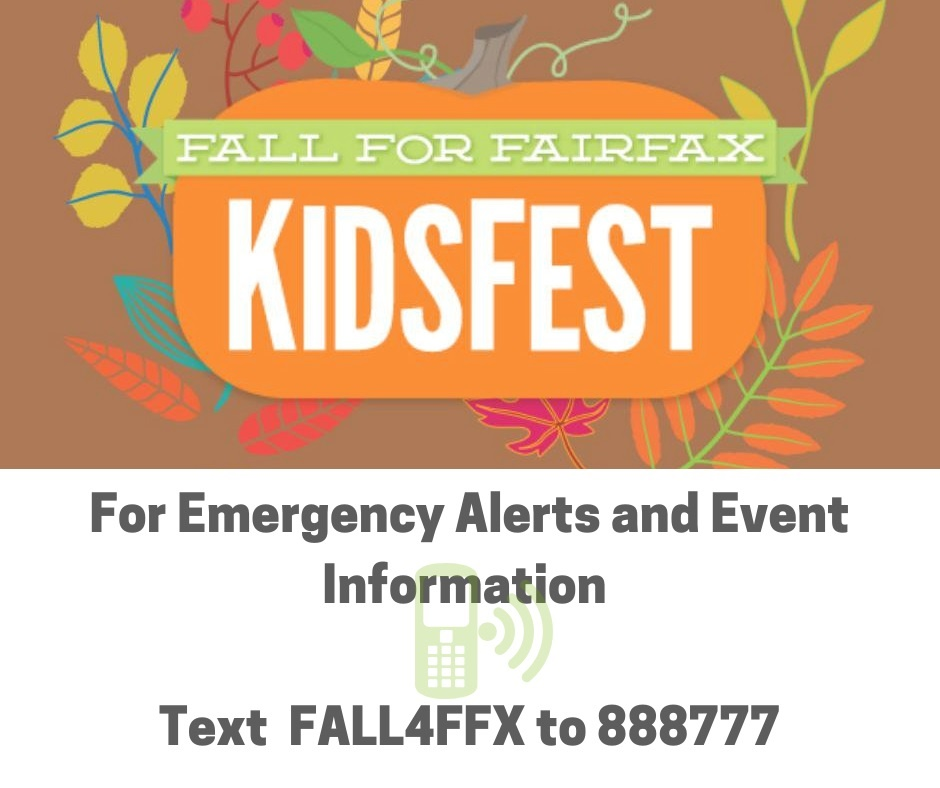 Fall for Fairfax Kidsfest Information Flyer