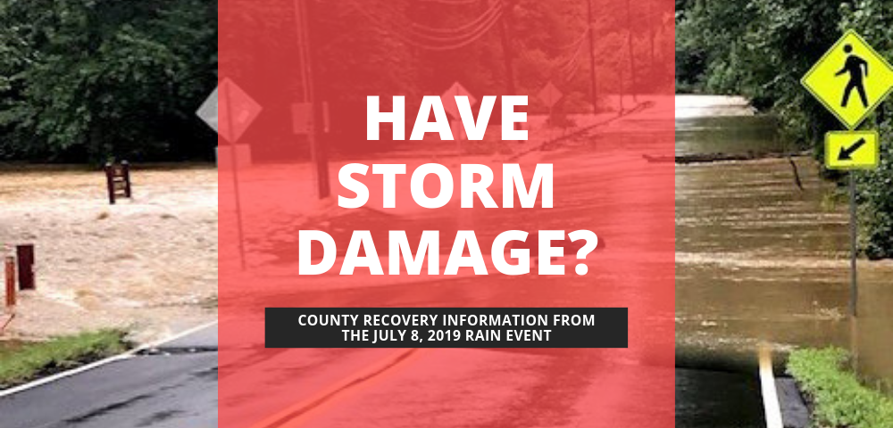 County Recovery Information from the July 8, 2019 Rain Event image