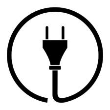 Icon of an electrical plug and cord