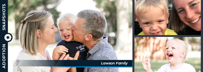 Lawson family collage graphic