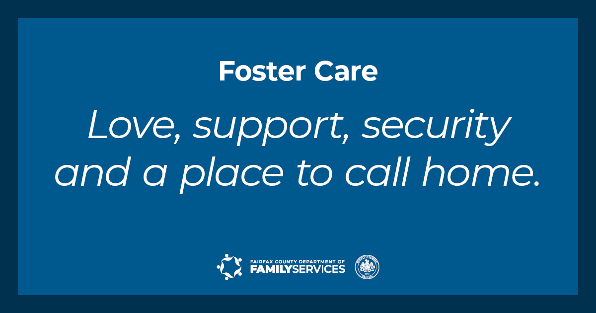 Foster Care Love Support Security and a Place to Call Home Twitter graphic