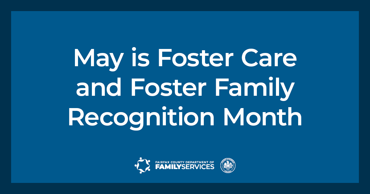 May is Foster Care and Foster Family Recognition Month Twitter graphic