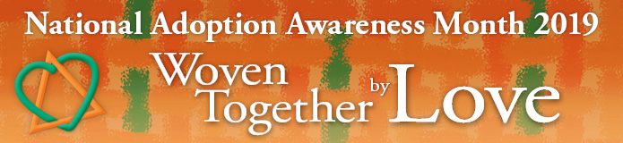 2019 Adoption Awareness Month banner graphic