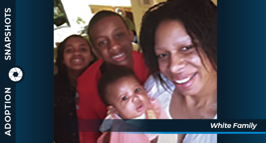 Adoption Snapshots White family feature photo graphic