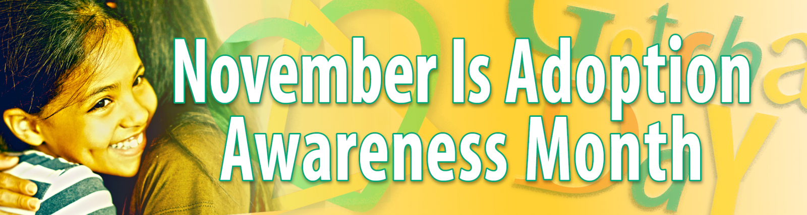 2018 Adoption Awareness Month banner