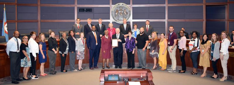Kinship Awareness Month proclamation group photo