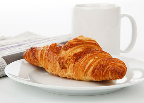 croissant and cup