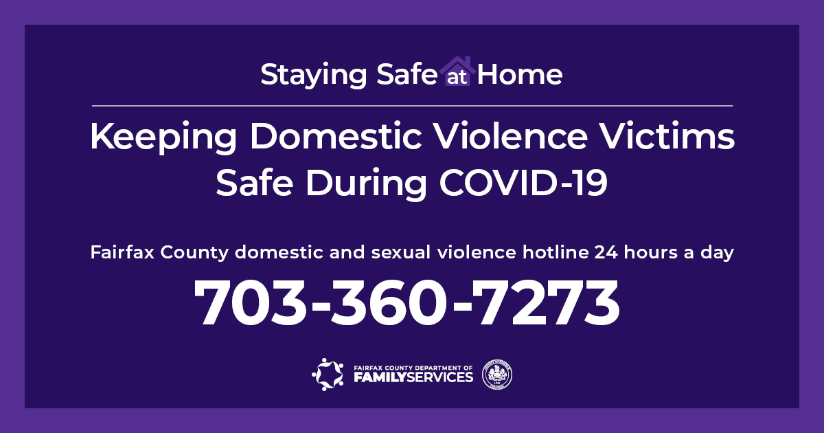 Staying Safe at Home hotline graphic for Facebook