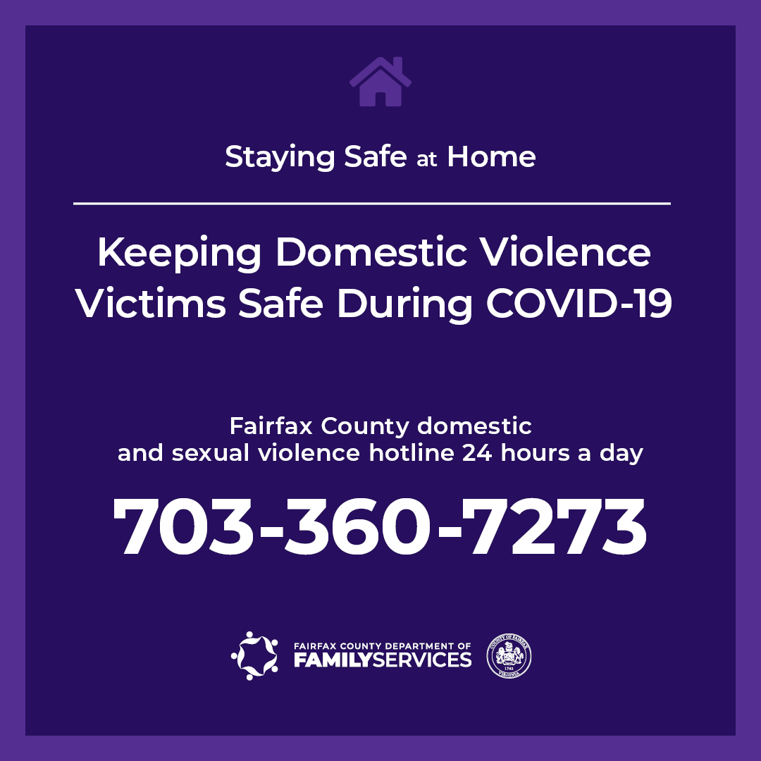 Staying Safe at Home hotline graphic for Instagram