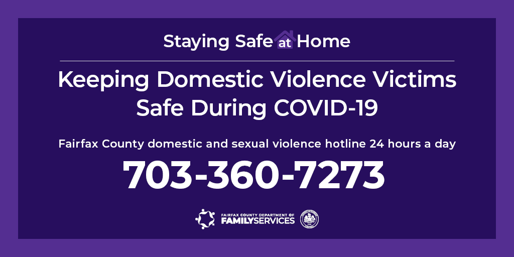 Staying Safe at Home hotline graphic for Twitter