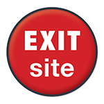exit website button circle