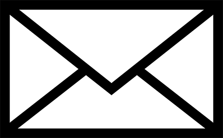 black envelope graphic