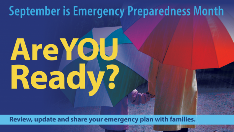 Office for Children September is Emergency Preparedness Month graphic
