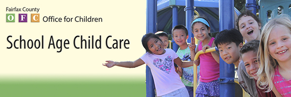 banner school age child care sacc children at a playground