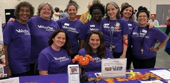 Volunteer Solutions Staff at Venture Into Volunteering Fair on October 2, 2019