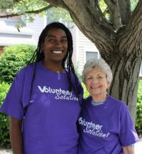 Jamilah Dalton with long-time MOW driver, Joan Wiley